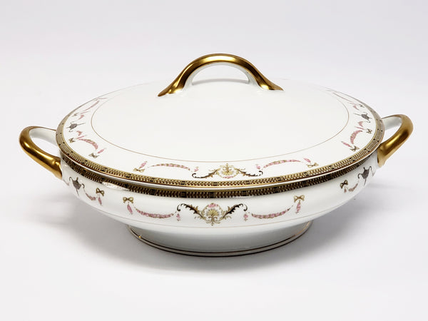 Noritake Round Vegetable Serving Bowl with Lid -  The Sahara