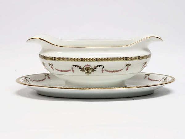 Noritake Gravy Boat with Attached Underplate - The Sahara Pattern