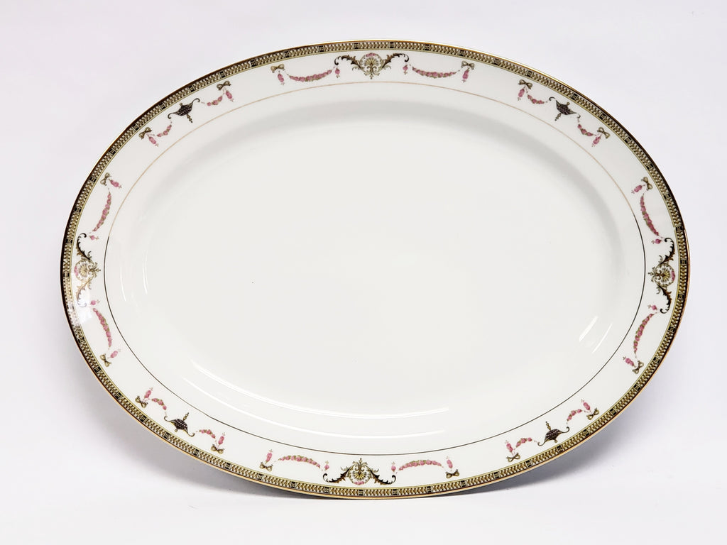 "Noritake China 13 7/8"" Oval Serving Platter - The Sahara Pattern"