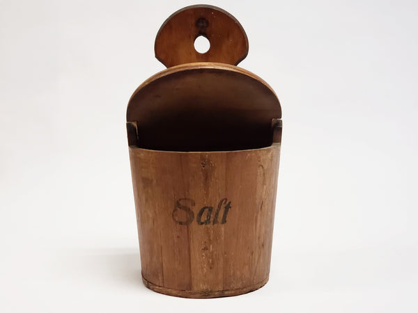 Vintage Wooden Hanging Kitchen Salt Box Made in Czechoslovakia