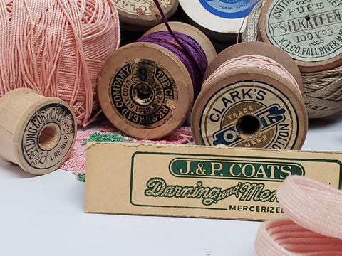 Vintage Sewing Assortment - Spools of Thread - Coats & Clark's, J & P Coats, DMC and More
