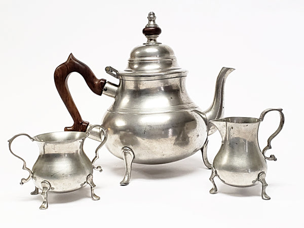 Stieff Pewter Williamsburg Tea Set With Hallmark by Kirk Stieff ~ 1950's
