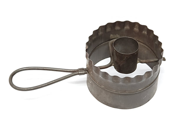 Antique Doughnut and Biscuit Cutter With Turn Handle
