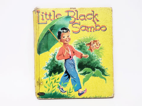Vintage Little Black Sambo Hardcover Book Whitman Publishing 1953