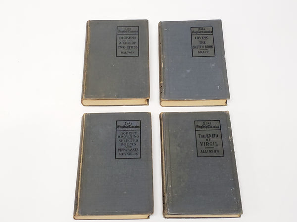 Early Lake English Classics Books, Collection of 14, c. 1898-1923
