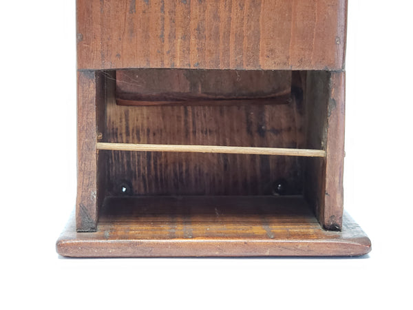 Antique Wooden Tavern Pipe Box with Drawer