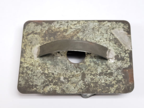 "Antique ""Male Profile Face"" Tin Cookie Cutter With Flat Back and Soldered Handle"