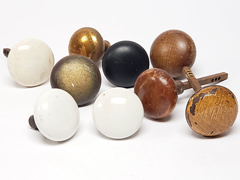 Vintage Door Knobs - Group of 9 Materials- Variety