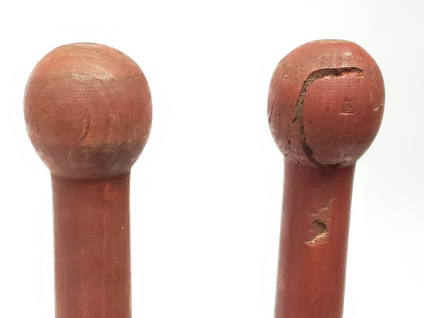 Vintage Wooden Juggling Clubs - Set of 4