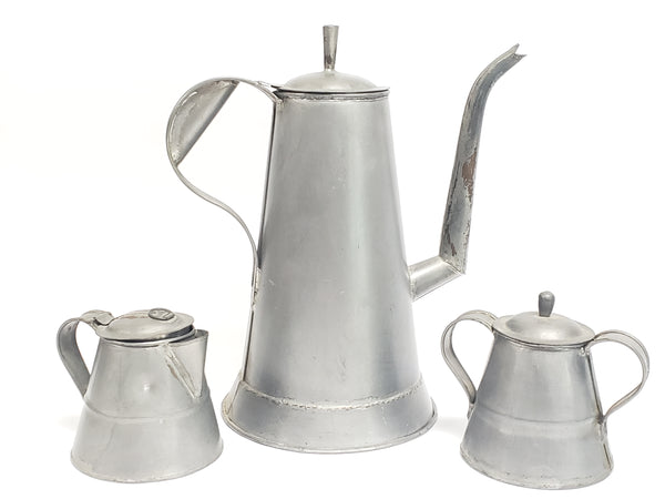 Americana Gooseneck Coffee Pot Creamer Sugar Trio