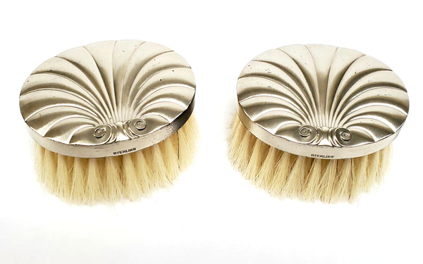 Sterling Silver Baby Brush Set With Original Box ~ 1930's - 1940's