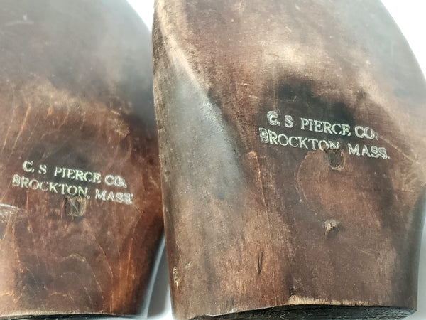 Vintage Wooden Shoe Lasts - Stamped CS Pierce Co Brockton, Mass