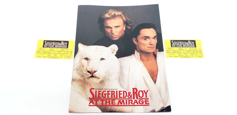 Siegfried & Roy At the Mirage 1997 Souvenir Program with Original Two Ticket Stubs