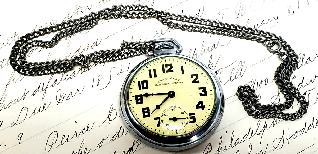 1950's Aristocrat Railroad Special Pocket Watch by Ingraham