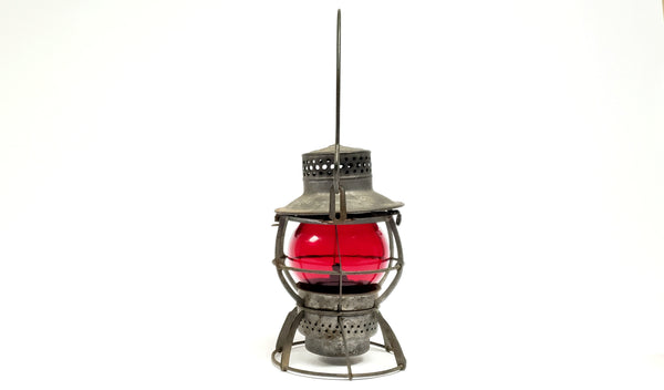Pennsylvania Railroad Lantern Red Short Globe - Dressel Arlington, N.J. PRR