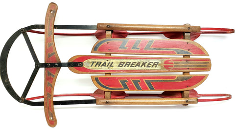 "Vintage 1950's ""Trail Breaker"" 40"" Red and Blue Sled"