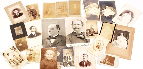 Vintage Black & White Portrait Photographs & Post Cards