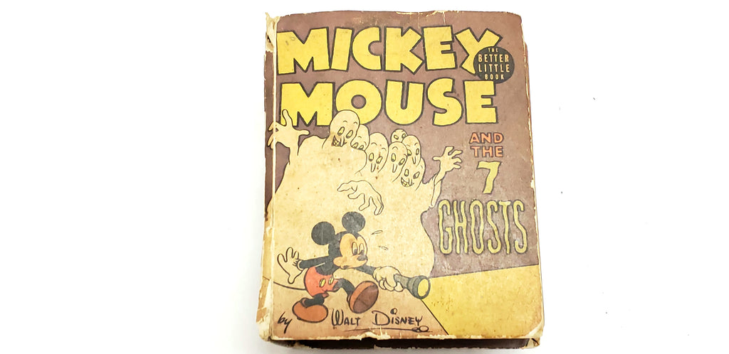 Walt Disney Mickey Mouse and the 7 Ghosts The Better Little Book Hardcover Whitman Publishing