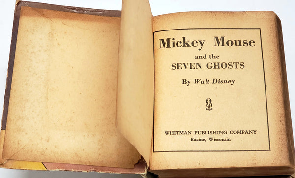 Walt Disney Mickey Mouse and the 7 Ghosts The Better Little Book Hardcover #1475
