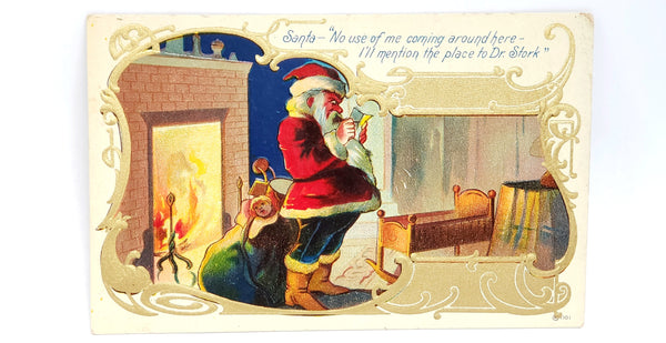 Antique Christmas Santa Claus Postcards Printed in Germany - c. Early 1900's