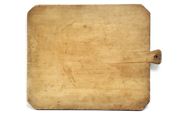 Antique Extra Large 5 Pound Farmhouse Dough Cutting Board w/ Handle