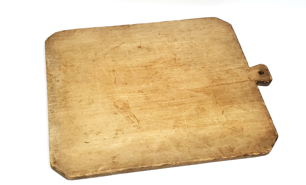 Antique Extra Large 5 Pound Farmhouse Cutting Dough Board w/ Handle
