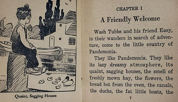 The Big Little Book - Wash Tubbs in Pandemonia #751 Whitman Publishing ~1934