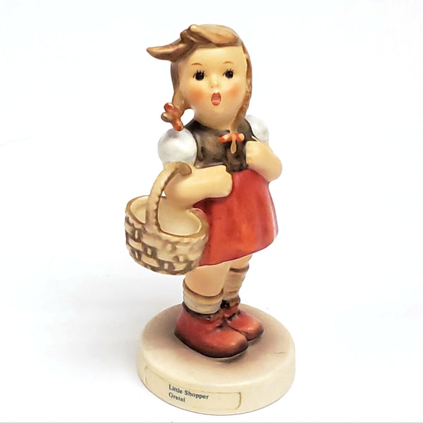 "Genuine MI Hummel - Goebel ""Little Shopper Gretel"" Figurine #96 W. Germany TMK6"