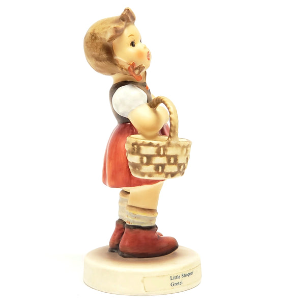 "Genuine M.I. Hummel - Goebel ""Little Shopper Gretel"" Figurine #96 W. Germany TMK6"