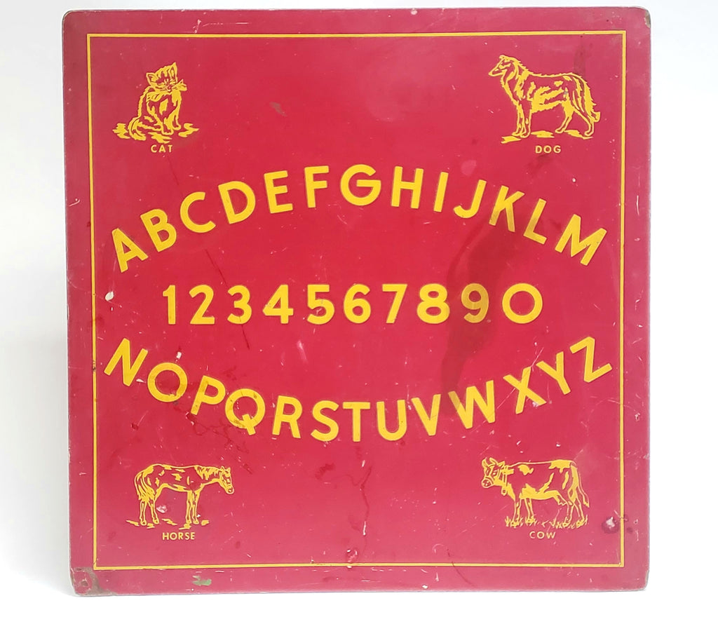 Unique Vintage Alphabet & Number Early Learning Schoolhouse Wall Art Decor