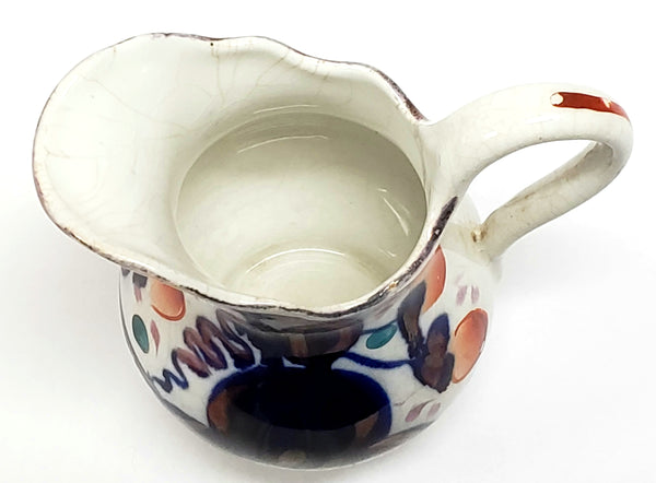 "Antique Gaudy Welsh Hand-Painted Creamer ""Oyster"" Pattern c 1820-1860"