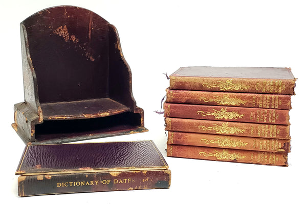 The Complete Works of William Shakespeare, 6 Volume Set and Dictionary of Dates w/ Original Stand