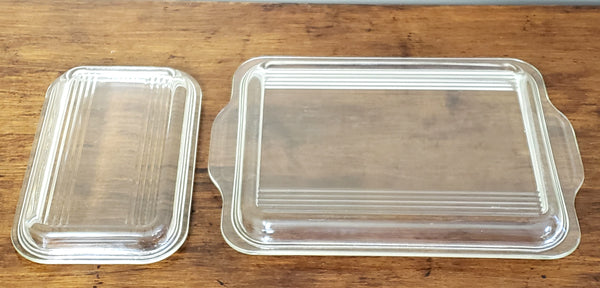 Pyrex Yellow & Blue Primary Lidded Glass Refrigerator Storage Dishes 500 Series