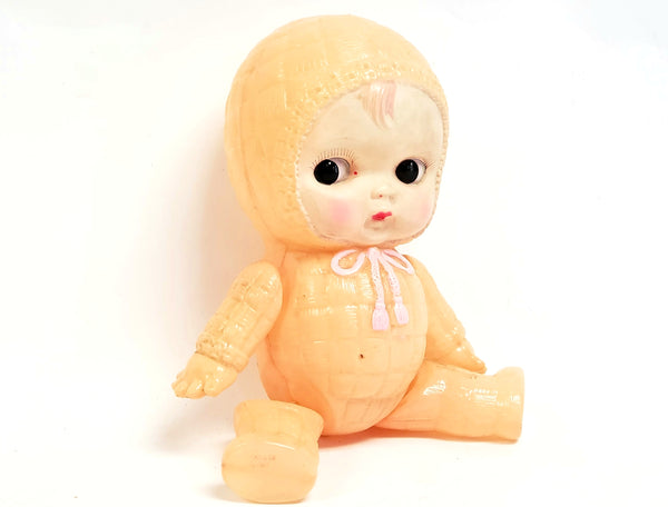 Early Celluloid Baby Doll, String Jointed, Japan, Marked