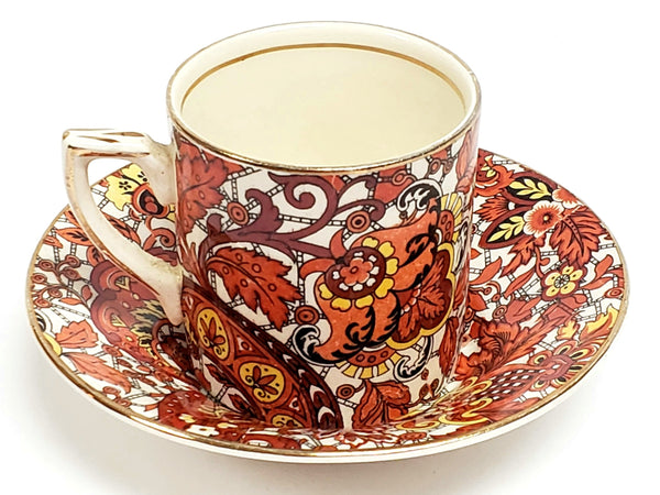 Alfred Meakin Chintz Demitasse Cup & Saucer, England C 1900-1921