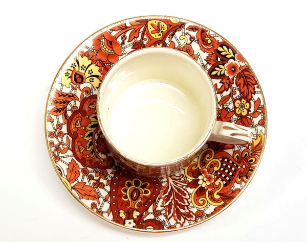 Alfred Meakin Chintz Demitasse Cup & Saucer England C 1900-1921