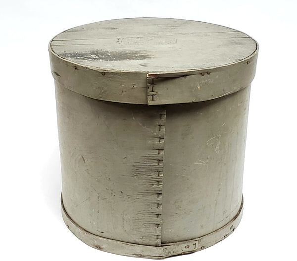 Large Country Primitive Bentwood Pantry Box w/ Aged Gray Paint