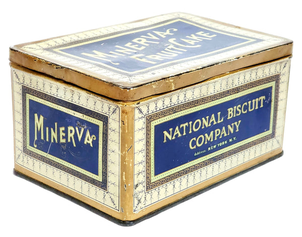 Minerva Fruit Cake Tin Box by National Biscuit Company