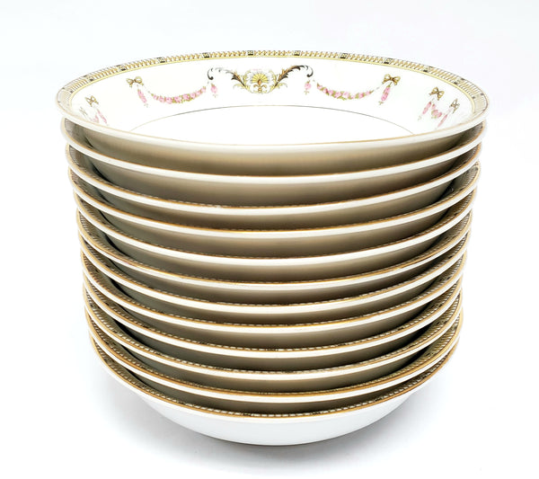 "Noritake Fruit Dessert Bowls, Set of 12, ""The Sahara"" Pattern 58590 ~ 1925-1938"