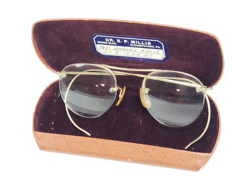 Vintage Spectacles 12K Gold Filled by Bausch & Lomb ~ 1930 - 1940's