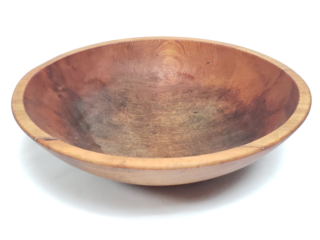 Antique Farmhouse Wooden Dough Bowl