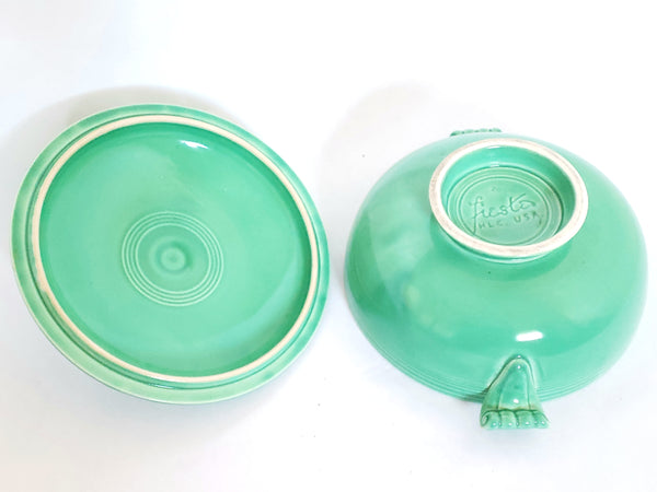 Fiesta Original Light Green Covered Casserole w/ Lid by Homer Laughlin c 1936-1951