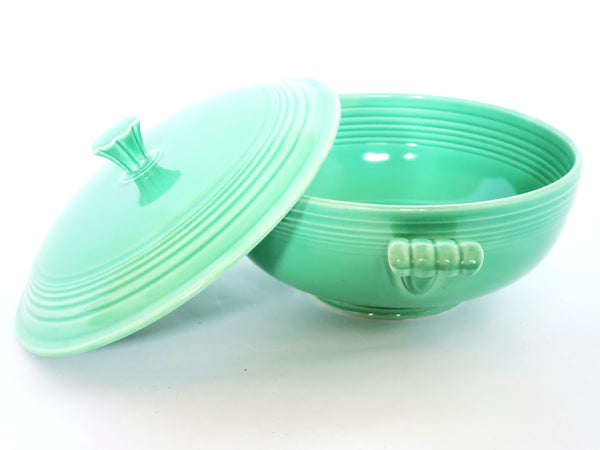 Fiesta Original Green Covered Casserole w/ Lid by Homer Laughlin c 1936-1951