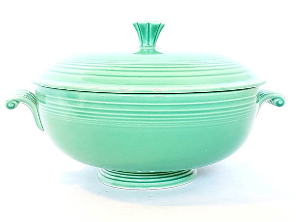 iesta Original Green Covered Casserole w/ Lid by Homer Laughlin c 1936-1951