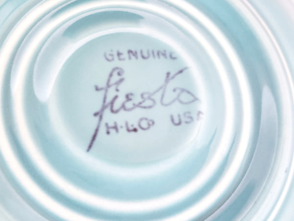 Genuine Fiesta Tea Cups, Saucers and Plates by Homer Laughlin U.S.A.