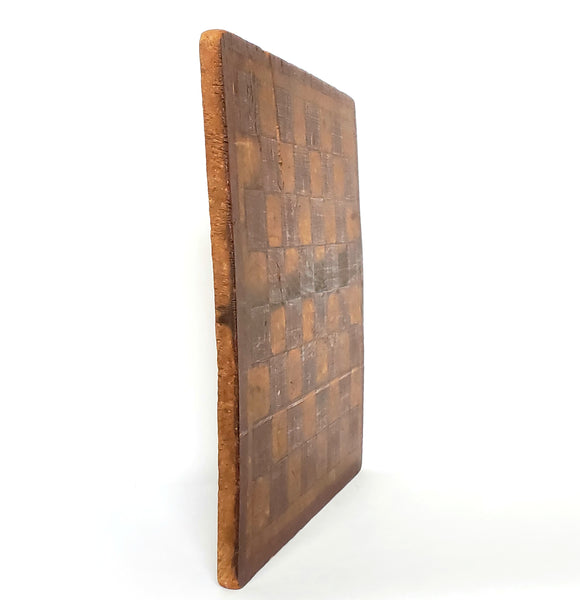 Primitive Handcrafted and Decorated Wooden Checkerboard