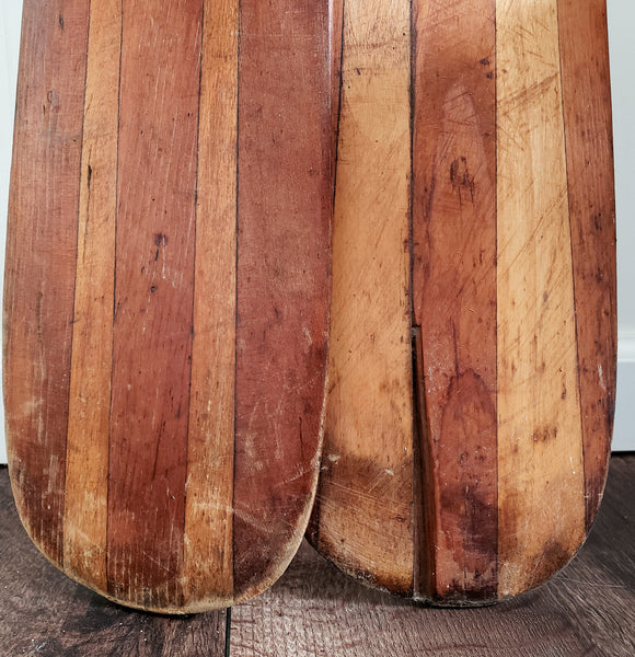 "Pair of Vintage Boat Paddles ""Beaver Brand Paddles"" by Leatherwood Mfg. Inc. - Americana - Nautical"