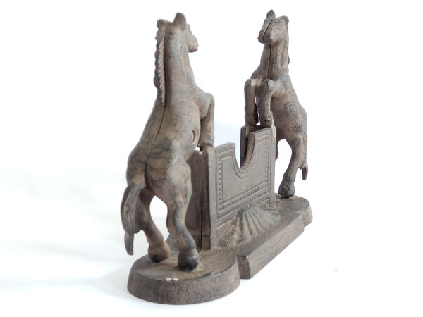 "Cast Iron Business Card Holder ""Rearing Horses"""
