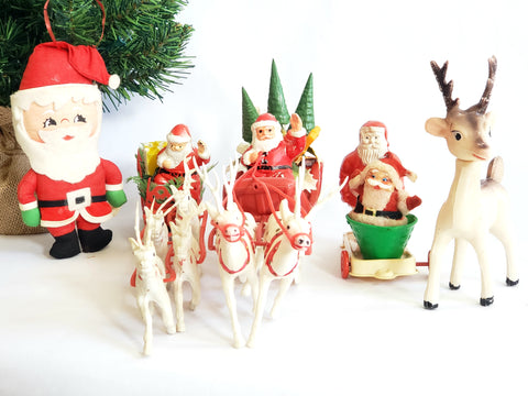 Lot of 6 Mid Century Christmas Figurines and Ornaments