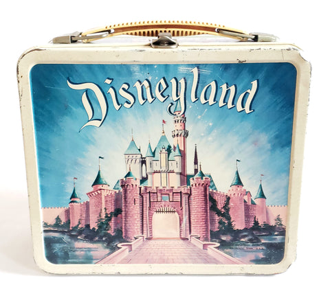 Disneyland Metal Lunchbox, Jungle Cruise Congo Queen and Castle by Aladdin Industries c. 1957